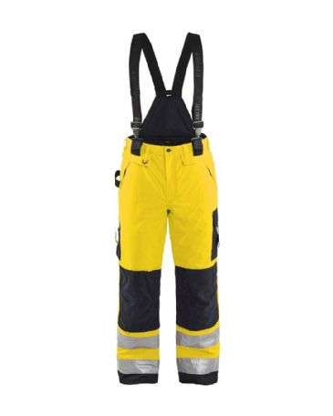 Blaklader 1885 Winter High Vis Trouser Polyester (Yellow/Black)